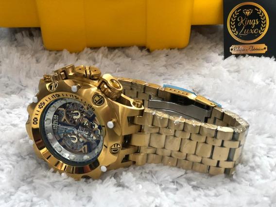 Relógio Invicta Venom Hybrid + Maleta Invicta Dourada
