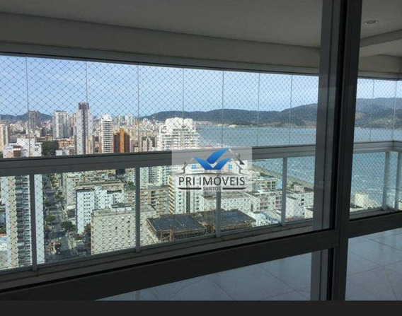 Apartamento À Venda, 234 M² Por R$ 2.950.000,00 - Boqueirão - Santos/sp - Ap0726