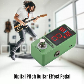 Pedal Afinador Guitarra Precisão Display Led Com True Bypass