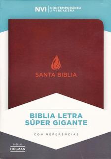 Biblia Nvi Super Gigante Índice Piel Marrón, Mt