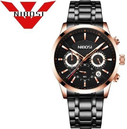 Relógio Masc Nibosi 2313 Orig Luxo Frete Grátis 12x S/juros