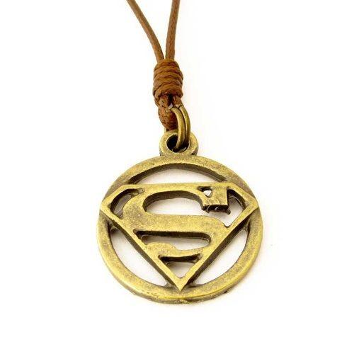 Colar Do Superman Ouro Velho Regulável Frete Grátis