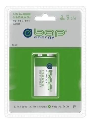 Imagem 1 de 3 de Bateria Recarregável 9v 320mah Bap-680