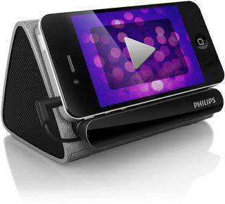 Parlante Portátil Philips Con Soporte Para Celular 3.5 Aux