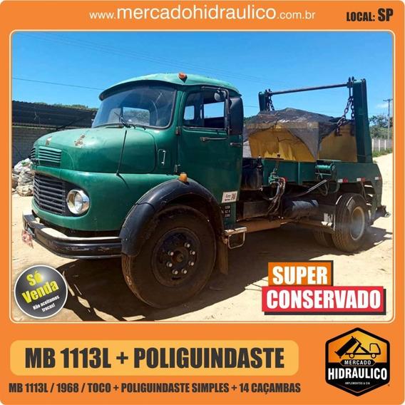 Mb 1113l / 1968 - Poliguindaste Simples + 14 Caçambas
