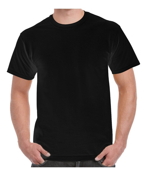 Playera Para Sublimar Dry Fit Negra Cuello Redondo