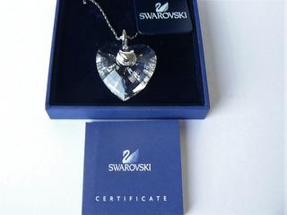 Collar Con Dije De Corazón Cristal Swarovski Original