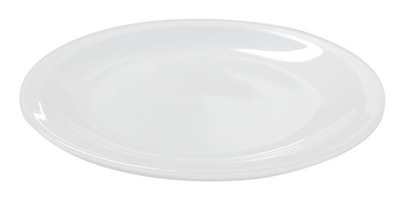 12 Platos Playos 25cm Gastronomico Porcelana Blanco Tsuji 2d