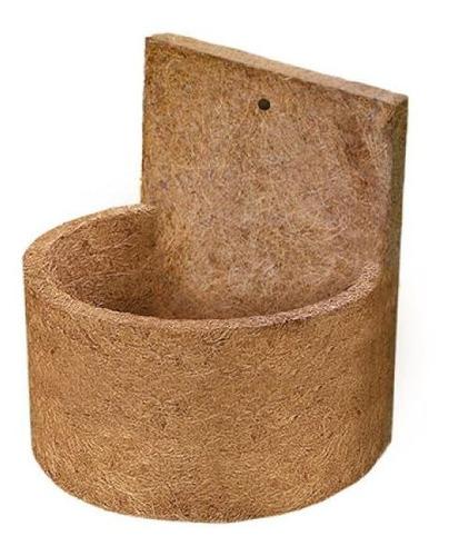 Imagem 1 de 1 de Vaso De Parede Meia Lua Fibra De Coco Pequeno Orquidea 1 Und