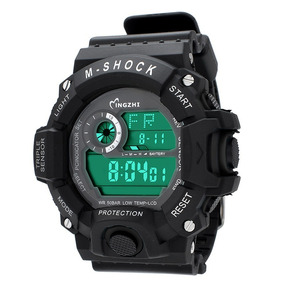 Relógio Militar Masc Luz Negra Prova D