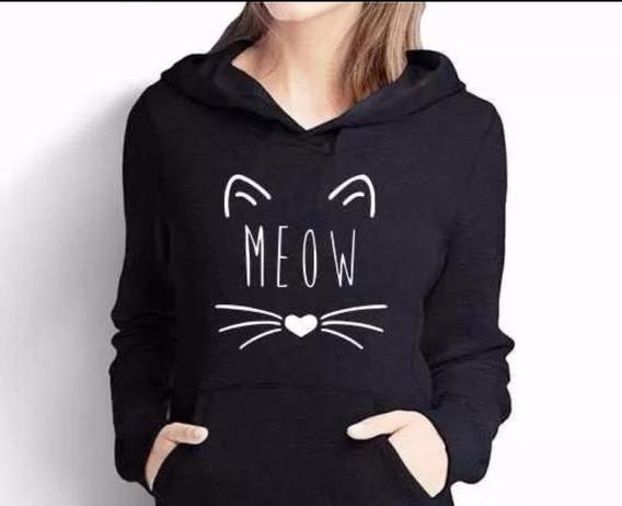 Blusa De Frio Gatinho Meow Super Promoção