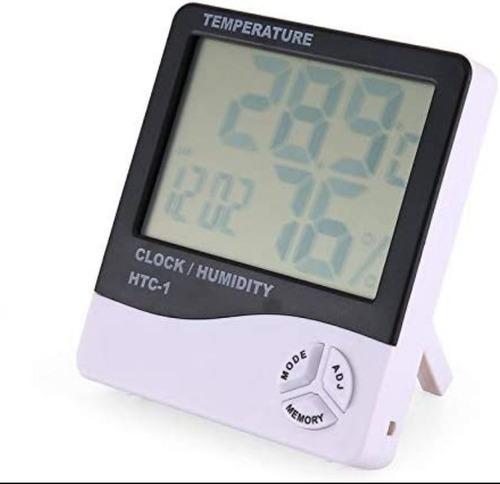 Termohigrómetro Electrónico Doméstico Pantalla Grande Reloj