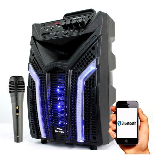 Caixa De Som Amplificada Elegance 100w Potente Bluetooth
