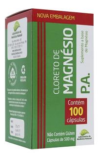 Kit 24 Cloreto De Magnésio Pa 100cps 500mg Medinal - Atacado
