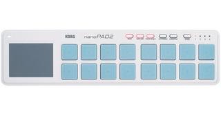 Controlador Midi Usb Korg Nanopad 2 Branco Com 16 Pads