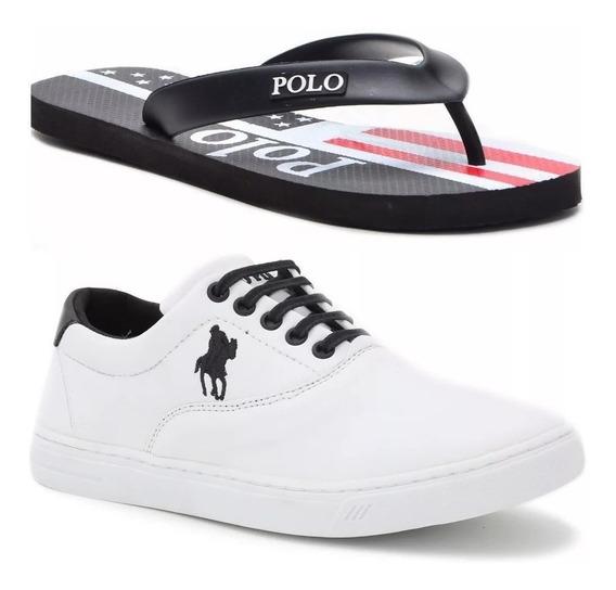 Kit Chinelo Polo + Tênis Polo Masculino.