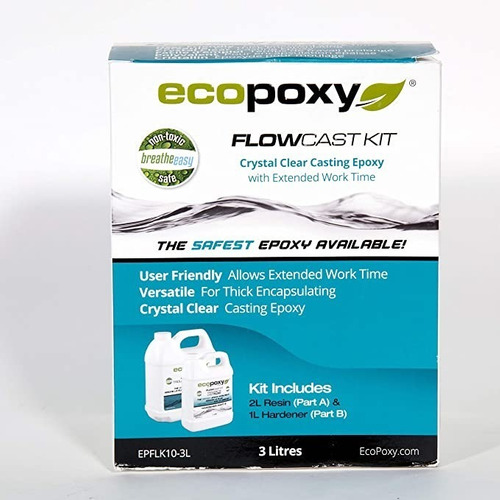 Imagen 1 de 2 de Resina Ecológica Ecopoxy Flow Cast Kit 3 Litros