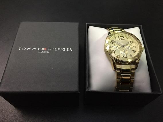 Relógio Tommy Hilfiger Original - Dourado Calendário Usado