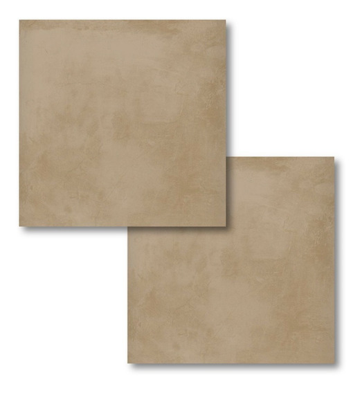 Ceramico Marron Alberdi Alisado Tabaco 51x51 Simil Cemento