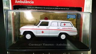Miniatura Veraneio Ambulância 1/43 Veículos De Serviço Novo