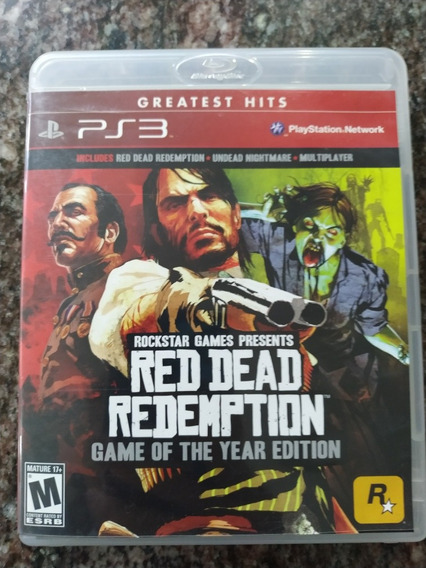 Red Dead Redemption+undead Nightmare Ps3 Mídia Física
