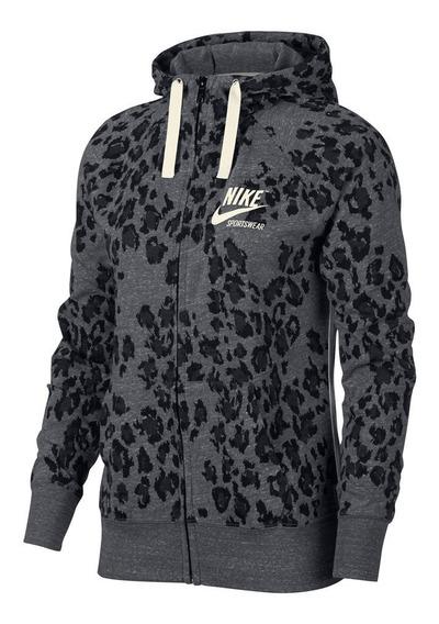 Campera Nike Vintage Leopard Mujer