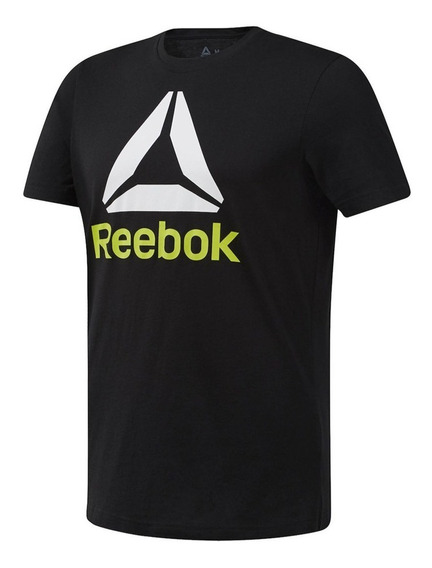 Remera Reebok Training Qqr Stacked Hombre Ng
