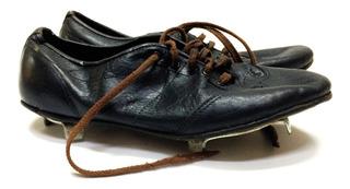 Antiguos Zapatos De Beisbol Football Americano Baseball Agujeta Cafe No6