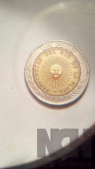 1 Peso Argentina 1995 Error En La Pera Del Sol