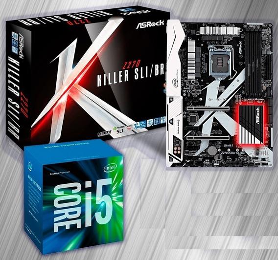 Kit Core Intel I5 7600k Placa Mãe Asrock Z270 Sli 1151 6ª/7ª