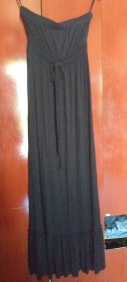 Rapsodia Vestido Strapless Largo De Jersey Tl Largo Impec
