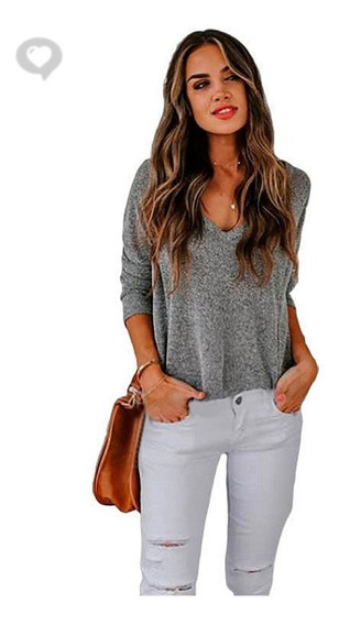 Sweater Hilo Escote V - Art. Eva - Espacio De Bellas!
