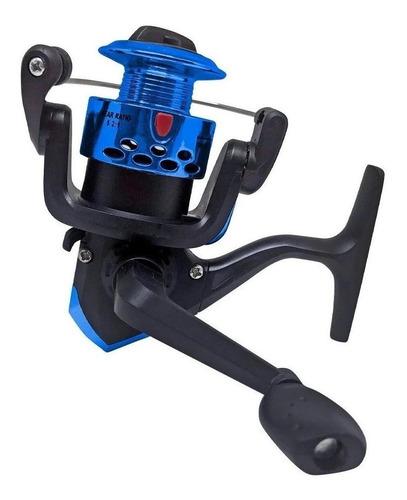Imagem 1 de 3 de Carretel molinete CMiK HT200 direito/esquerdo color azul