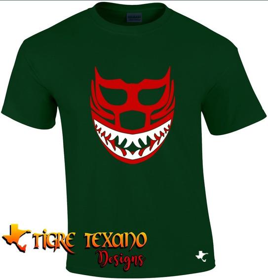 Playera Lucha Libre Mil Máscaras Tiburó Tigre Texano Designs