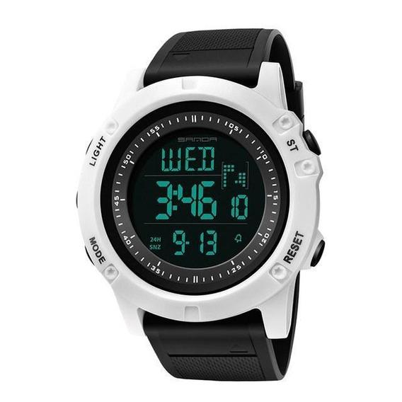 Relógio Sanda Digital Esportivo Feito Em Resina Branco