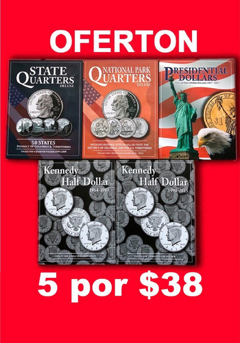 Imagen 1 de 4 de 5 Album Coleccionador Para Monedas 25 Y 50 Centavos Y 1 Dola