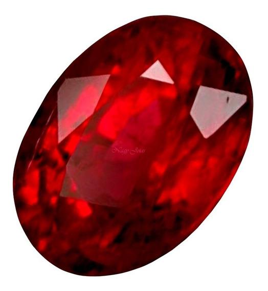 Maravilhoso Rubi Pedra Preciosa Vermelho Brasa / 6.3cts