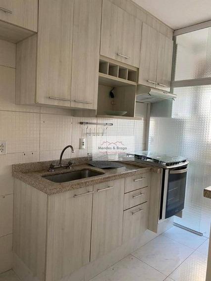 Apartamento Para Alugar, 45 M² Por R$ 1.200,00/mês - Ponte Grande - Guarulhos/sp - Ap2116
