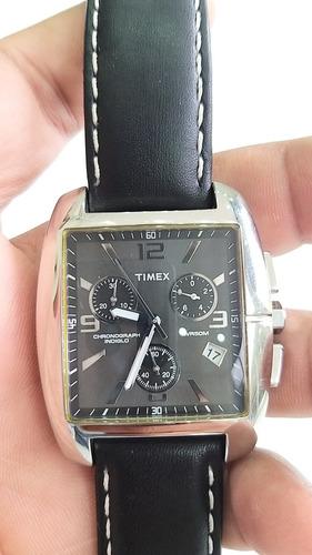 Relógio Timex Monaco Analógico Quadrado Couro Novo Lindo