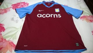 Camisa Aston Villa Da Inglaterra 2008/09 Home