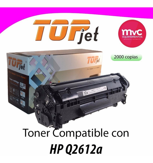 Q2612a Reciclado P/hp 1010/12/15 Y 1020 Iva Incluído.