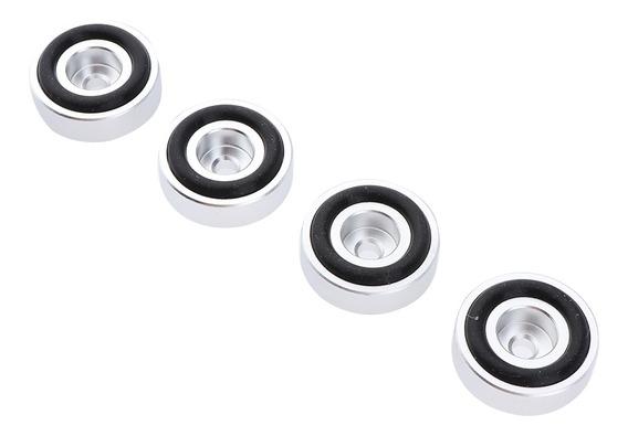 4 Pack Alumínio Speaker Spike À Prova De Choque 30x10mm Pés