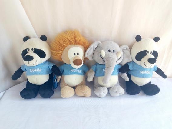 Pelucia Filhotes Nestle Urso Panda O Leão O Elefante