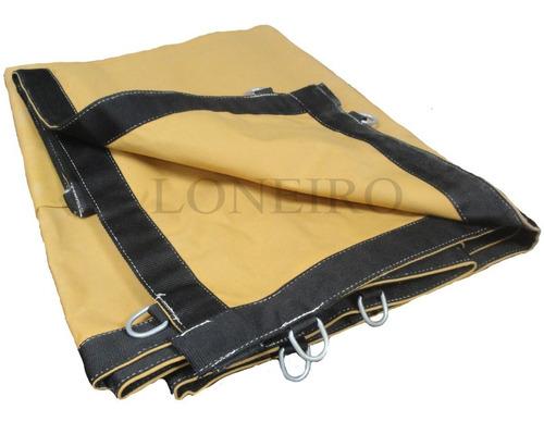 Lona Premium 7x6 M Encerado Argolas Ripstop Caqui Caminhão