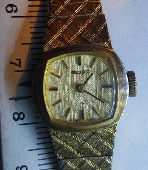 Antiguo Reloj Seiko Vintage Chapado Oro 18k Dama Funciona