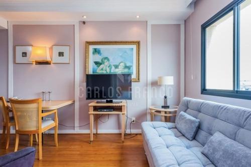 Flat No Universe Executive Flat, De 30m² Com 1 Dormitório, 1 Vaga, 1 Banheiro No Jardim Paulista - Cf62110