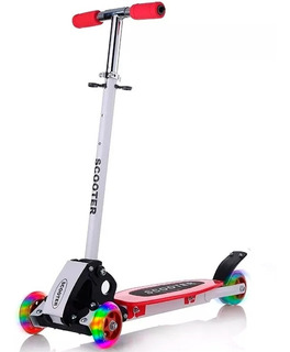 Patineta Monopatin Scooter Altura Regulable Con Luces