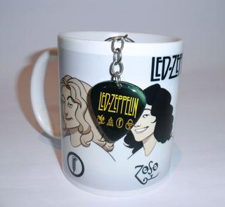 Caneca Personalizada Led Zeppelin + Chaveiro Led Grátis