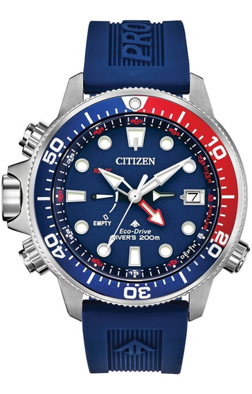 Relogio Citizen Eco-drive Promaster Aqualand Blue Red