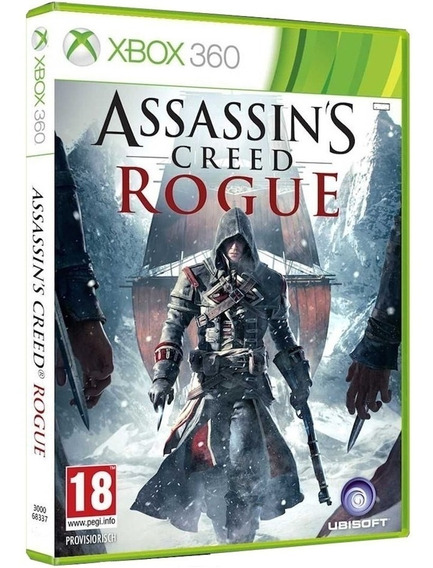 Jogo Assassins Creed Rogue Xbox 360 Mídia Física Português